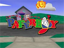 Title screen of Paperboy on the Nintendo N64.