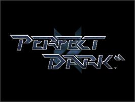 Title screen of Perfect Dark on the Nintendo N64.