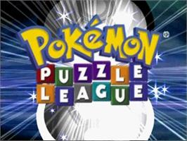Title screen of Pokemon Puzzle League on the Nintendo N64.