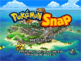 Title screen of Pokemon Snap on the Nintendo N64.