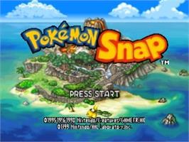Title screen of Pokemon Snap Station on the Nintendo N64.