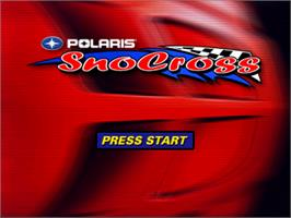 Title screen of Polaris SnoCross on the Nintendo N64.