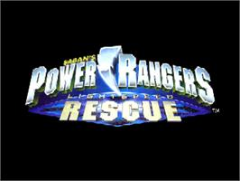 Title screen of Power Rangers: Lightspeed Rescue on the Nintendo N64.