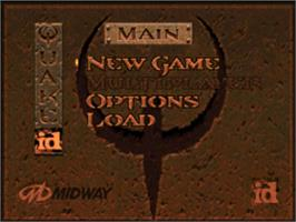 Title screen of Quake on the Nintendo N64.