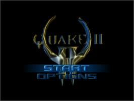 Title screen of Quake 2 on the Nintendo N64.
