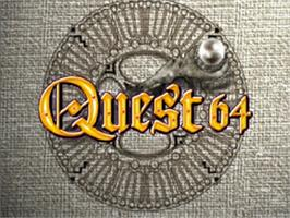 Title screen of Quest 64 on the Nintendo N64.