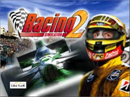 Title screen of Racing Simulation 2 on the Nintendo N64.