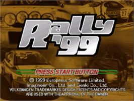 Title screen of Rally '99 on the Nintendo N64.