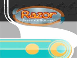 Title screen of Razor Freestyle Scooter on the Nintendo N64.