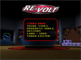 Title screen of Re-Volt on the Nintendo N64.