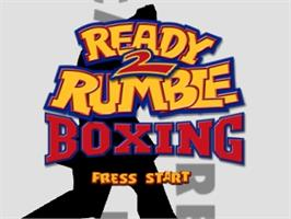 Title screen of Ready 2 Rumble Boxing on the Nintendo N64.