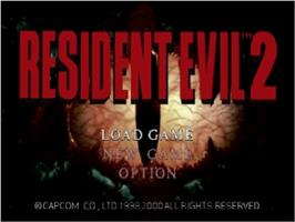Title screen of Resident Evil 2 on the Nintendo N64.