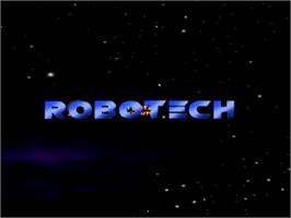 Title screen of Robotech: Crystal Dreams on the Nintendo N64.