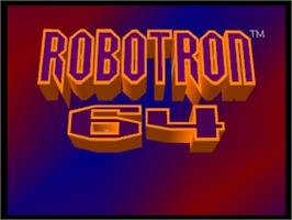 Title screen of Robotron 64 on the Nintendo N64.