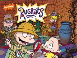 Title screen of Rugrats: Die grosse Schatzsuche on the Nintendo N64.