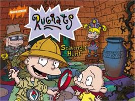 Title screen of Rugrats: Scavenger Hunt on the Nintendo N64.