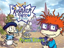 Title screen of Rugrats in Paris: The Movie on the Nintendo N64.