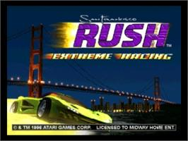 Title screen of San Francisco Rush: Extreme Racing on the Nintendo N64.