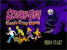 Title screen of Scooby Doo! Classic Creep Capers on the Nintendo N64.