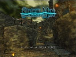 Title screen of Shadow Man on the Nintendo N64.