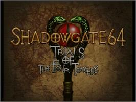 Title screen of Shadowgate 64: The Trials of the Four Towers on the Nintendo N64.