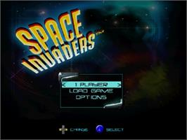 Title screen of Space Invaders on the Nintendo N64.