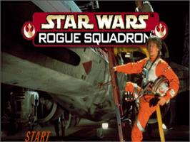 Title screen of Star Wars: Rogue Squadron on the Nintendo N64.