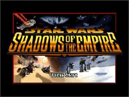 Title screen of Star Wars: Shadows of the Empire on the Nintendo N64.