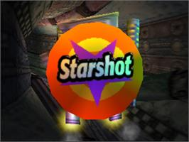 Title screen of Starshot: Space Circus Fever on the Nintendo N64.