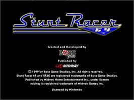 Title screen of Stunt Racer 64 on the Nintendo N64.