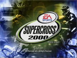 Title screen of Super Cross 2000 on the Nintendo N64.
