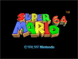 Title screen of Super Mario 64 on the Nintendo N64.