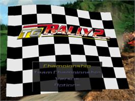 Title screen of TG Rally 2 on the Nintendo N64.
