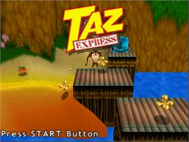 Title screen of Taz Express on the Nintendo N64.