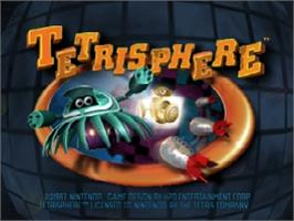 Title screen of Tetrisphere on the Nintendo N64.