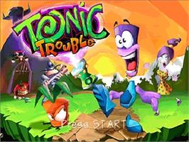 Title screen of Tonic Trouble on the Nintendo N64.