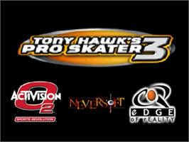 Title screen of Tony Hawk's Pro Skater 3 on the Nintendo N64.