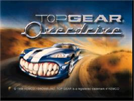 Title screen of Top Gear Overdrive on the Nintendo N64.