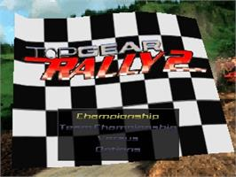 Title screen of Top Gear Rally 2 on the Nintendo N64.