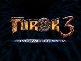 Title screen of Turok 3: Shadow of Oblivion on the Nintendo N64.