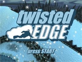 Title screen of Twisted Edge: Extreme Snowboarding on the Nintendo N64.