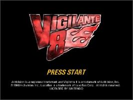 Title screen of Vigilante 8: 2nd Offense on the Nintendo N64.