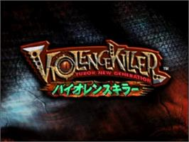 Title screen of Violence Killer: Turok New Generation on the Nintendo N64.