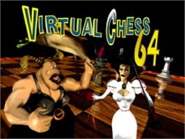 Title screen of Virtual Chess 64 on the Nintendo N64.