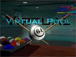 Title screen of Virtual Pool 64 on the Nintendo N64.