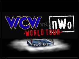 Title screen of WCW vs. NWO: World Tour on the Nintendo N64.