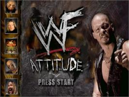Title screen of WWF Attitude on the Nintendo N64.
