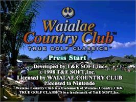 Title screen of Waialae Country Club: True Golf Classics on the Nintendo N64.