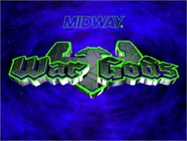 Title screen of War Gods on the Nintendo N64.