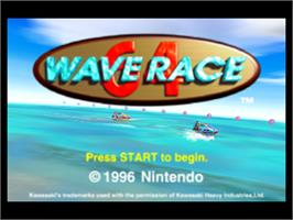 Title screen of Wave Race 64: Shindou Edition on the Nintendo N64.